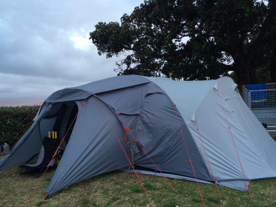 Our new Kathmandu tent - it's a beast