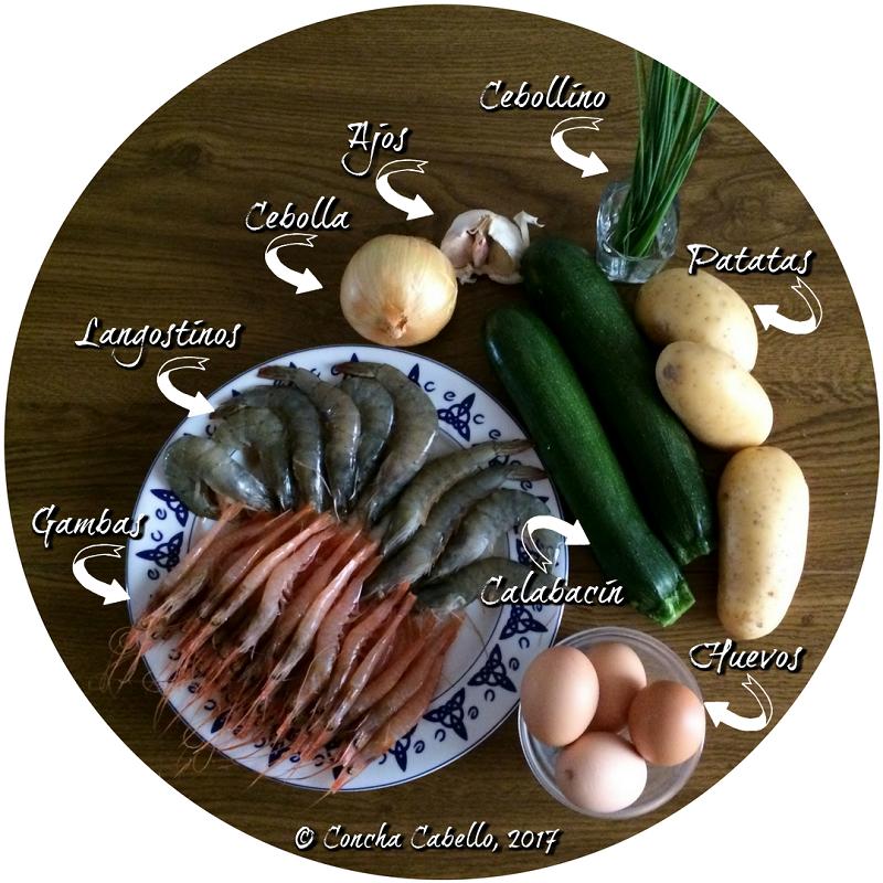tortilla-calabacín-langostinos-mise