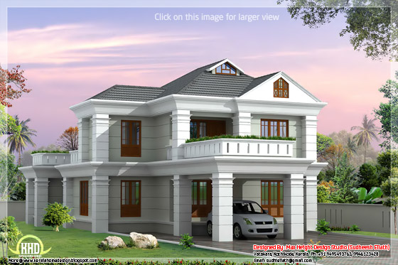 3d elevation house