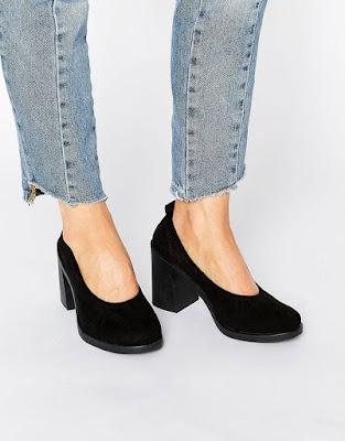 zapatos negros para dama