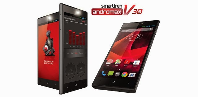Harga Smartfren Andromax V3S baru dan bekas serta spesifikasi lengkapnya.