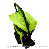 BabyDoes CH-818 L Easylite Facing Front Back Baby Stroller- Green