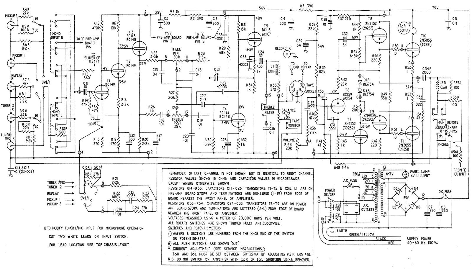 Electro Help Leak Stereo 70 Circuit Diagram Integrated