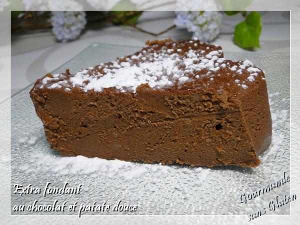fondant au chocolat et patate douce sans gluten