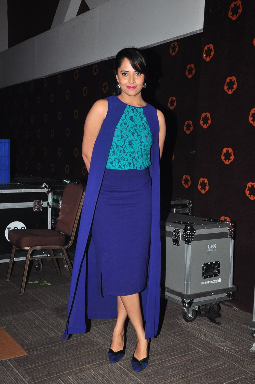 Glamorous Anasuya Photoshoot In Blue Dress