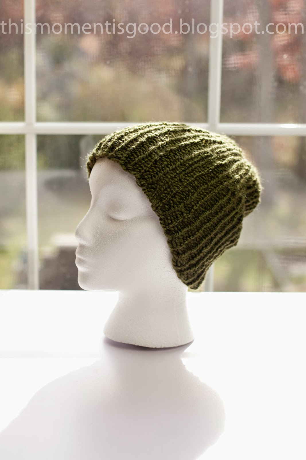 Knitting Loom Hat Stitches : Loom Knitting by This Moment is Good!: LOOM KNIT MENS RIBBED BEANIE...