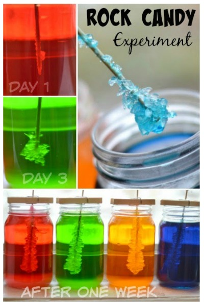 MAKE ROCK CANDY: A beautiful Science experiment & a yummy treat all in one #rockcandy #rockcandyrecipe #rockcandydiy #rockcandyrecipeeasy #howtomakerockcandy #scienceforkids #growingajeweledrose
