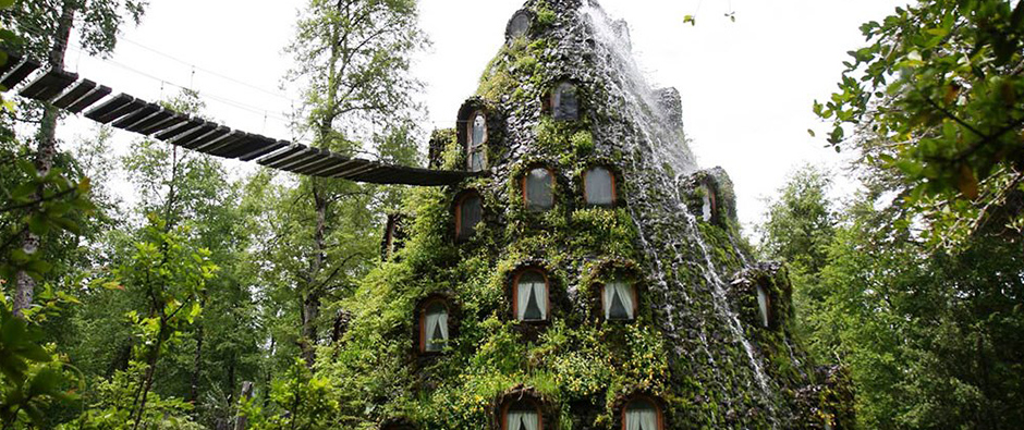 The Magic Mountain Lodge in the Patagonia Rainforest
