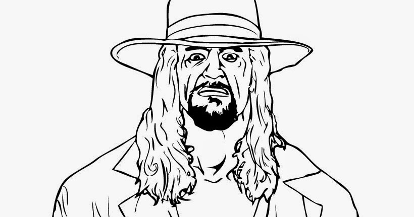 undertaker coloring pages print - photo#16