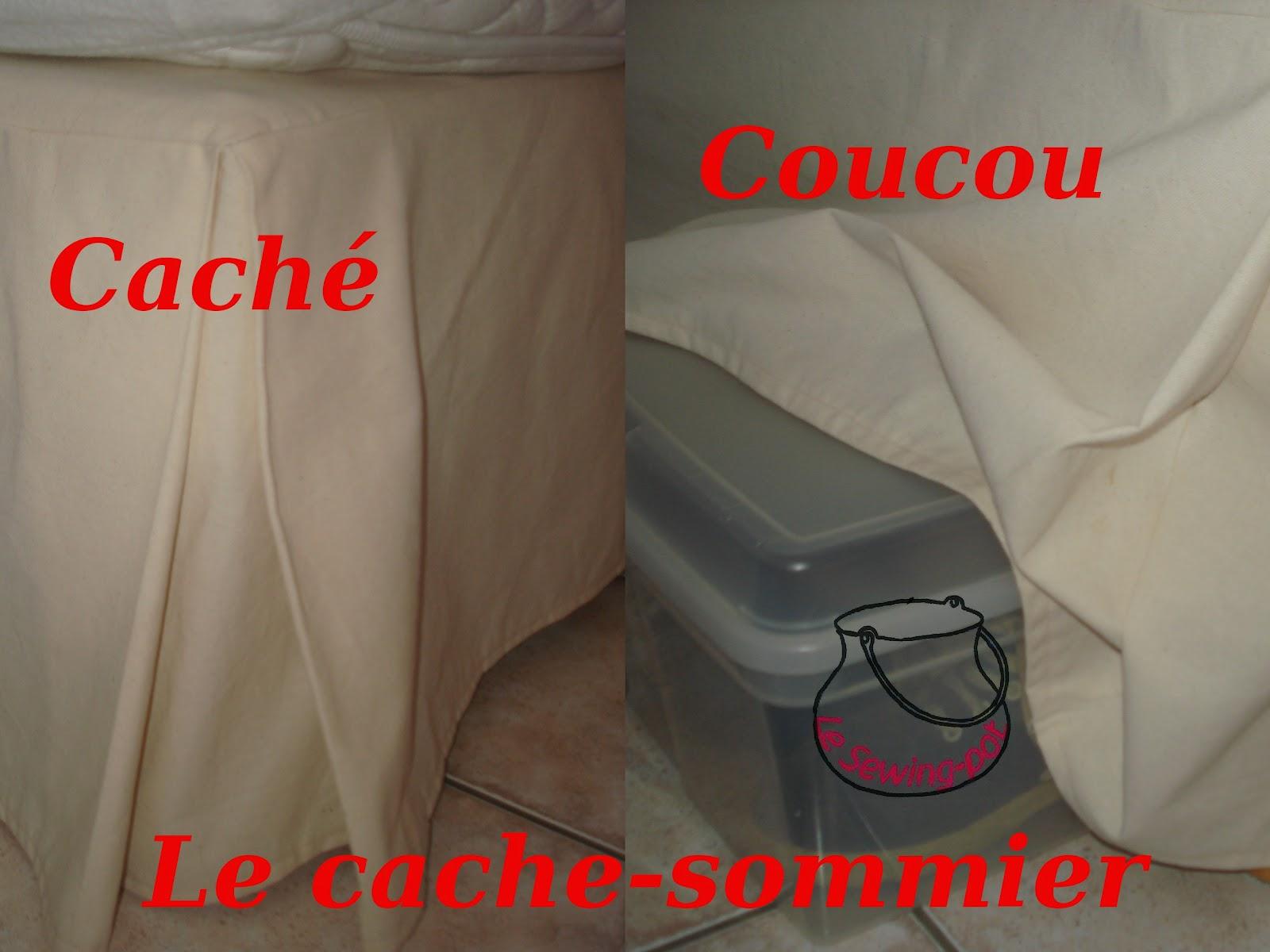 le sewing pot sp cial chambre le cache sommier bed. Black Bedroom Furniture Sets. Home Design Ideas