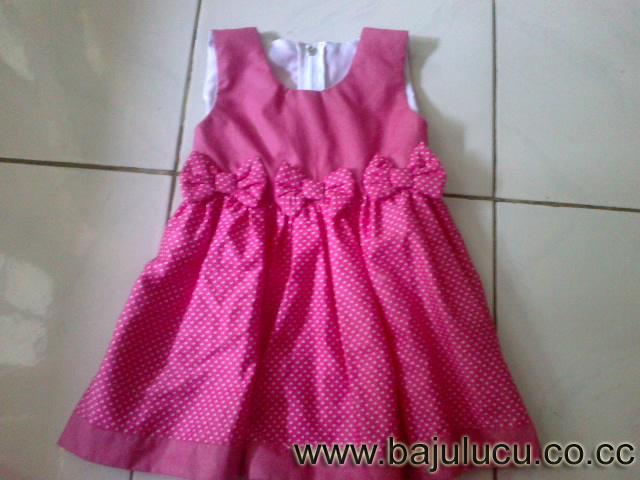 Baju Anak Lucu Dress Anak Pink Dot