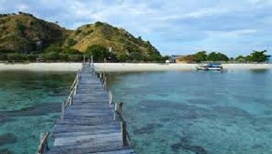 pemandangan pantai pulau komodo ntt