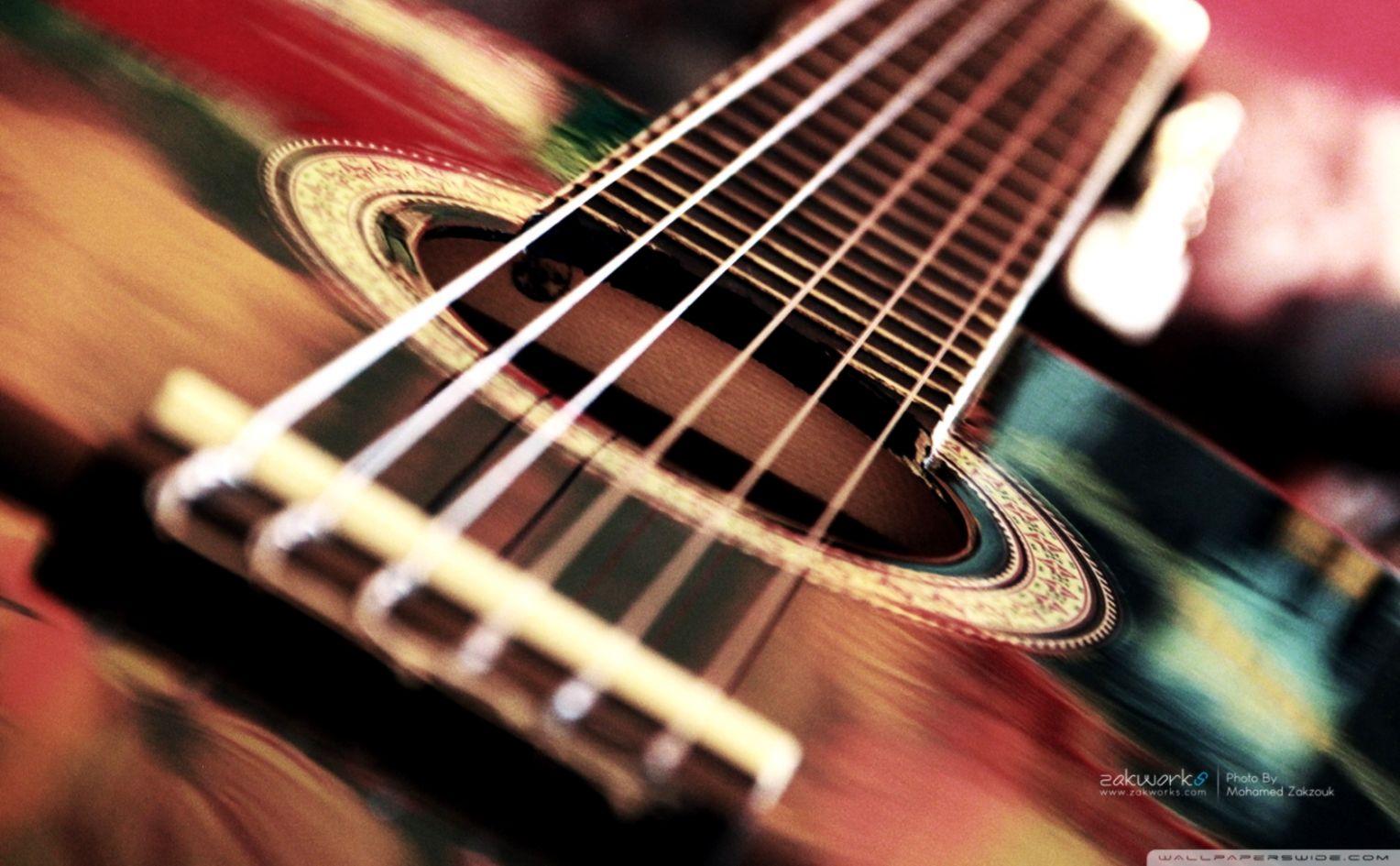 Acoustic Guitar Wallpaper Wallpapers Plain