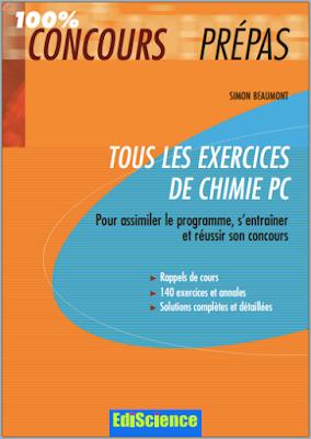 Tous les exercices de chimie PC - 100% Concours Prépas PDF