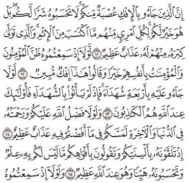 Tafsir Surat An-Nur Ayat 11, 12, 13, 14, 15