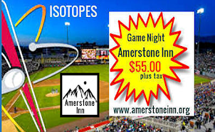 Friday, 26 Jul 2019 @ 6:35 PM AlIsotopes Vs. Salt Lake Bees - Isotopes Park, Albuquerque, NM