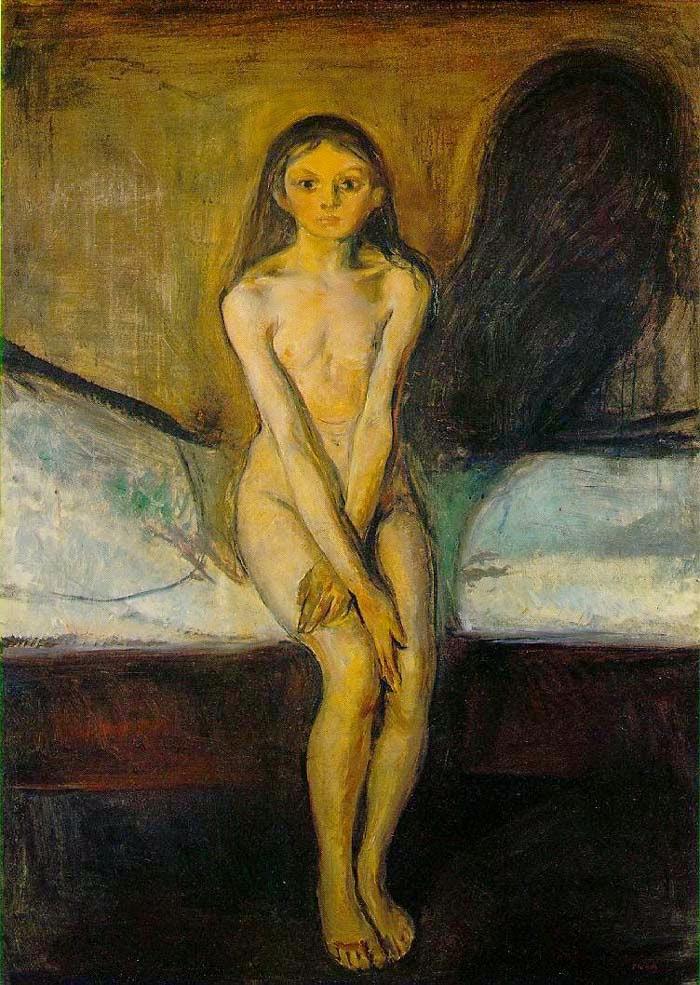 Puberdade - Munch, Edvard esuas principais pinturas ~ Um grito de desespero existencial