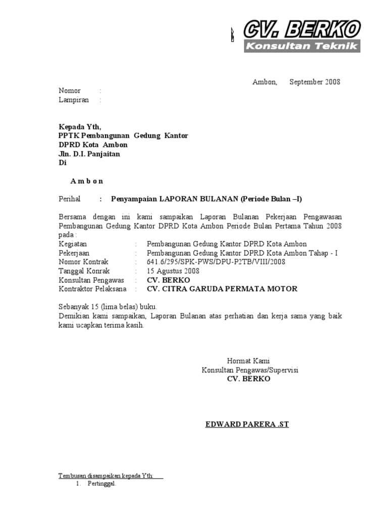 Contoh Surat Lamaran Pengawas Tps Suratmenyuratnet