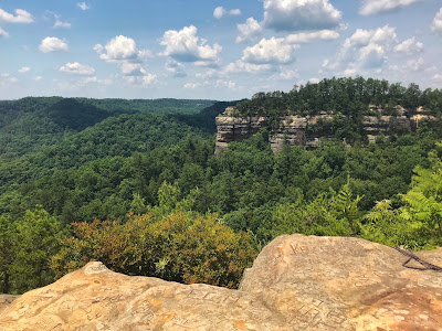 View of Chimney Top rock from Half Moon