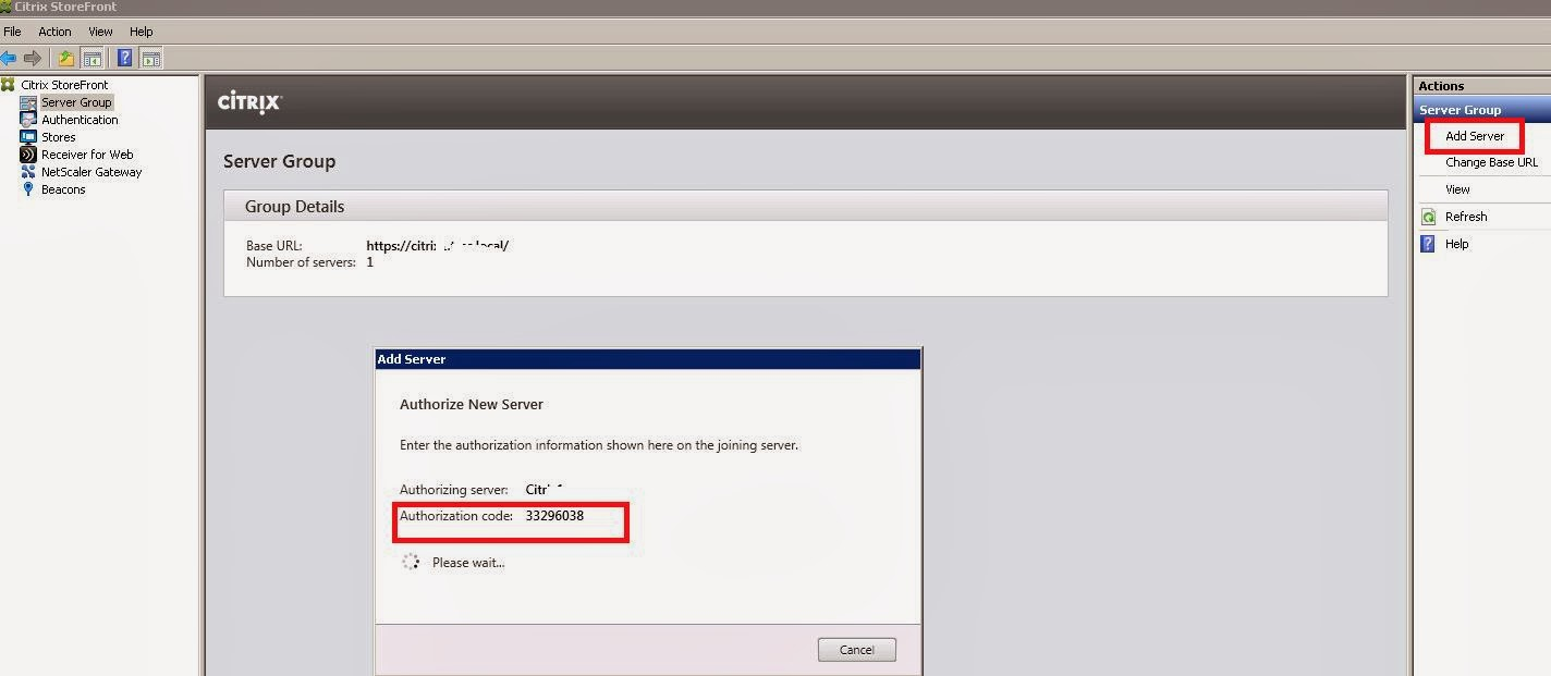 Steps to add second Citrix Storefront server to server group