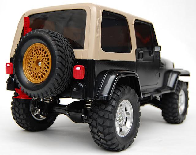 Tamiya Jeep Wrangler spare tire mount