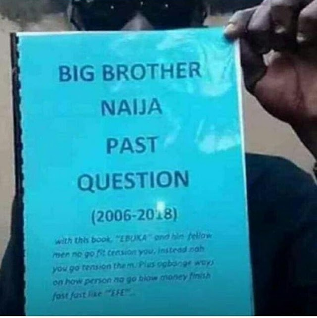 Big Brother Naija Past Questions' booklet is now being sold in Lagos traffic