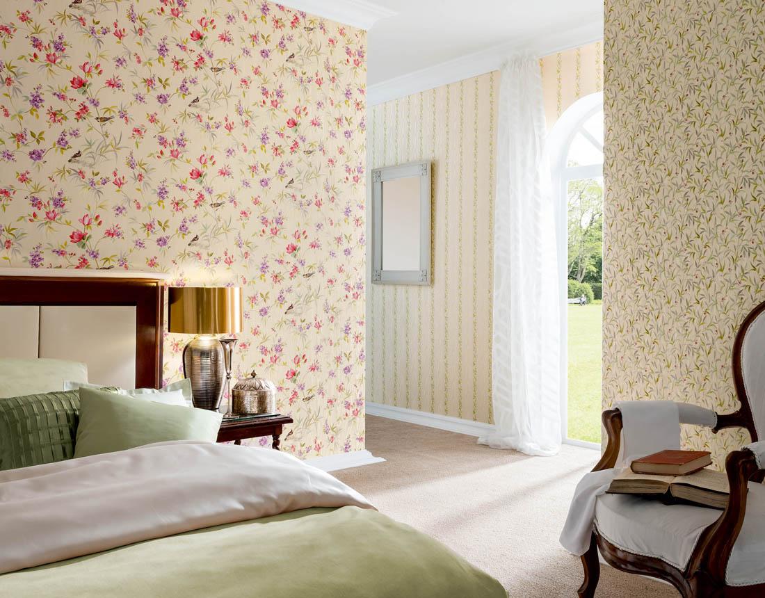 Dormitorios primaverales con papel pintado me gusta el papel pintado - Papel pintado dormitorio principal ...