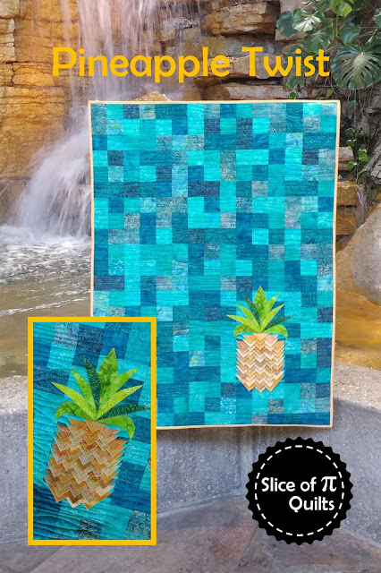 Pineapple Twist quilt pattern using prairie points to create texture