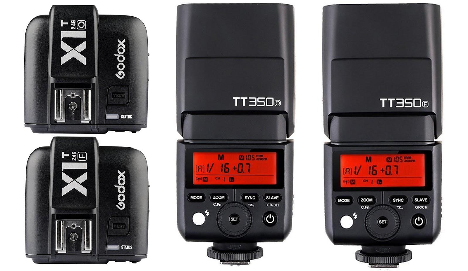 Синхронизаторы Godox X1T и вспышки TT350 для камер Fujifilm, Olympus и Panasonic