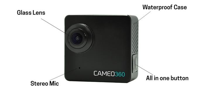 Cameo360, Kamera Action Terkecil dengan Dual Lens 360 derajat