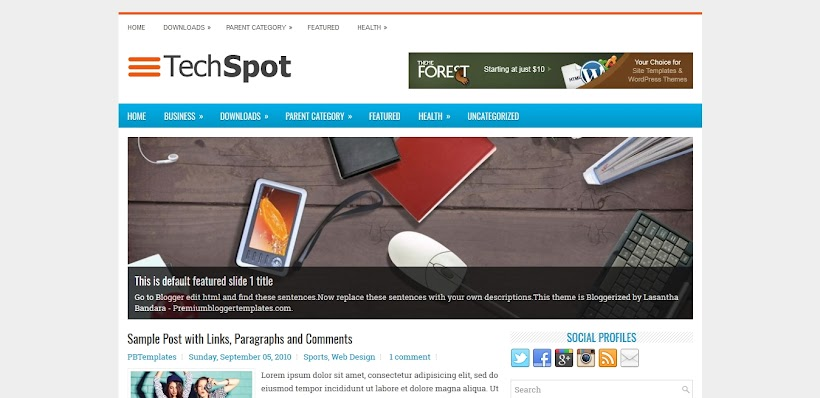 TechSpot Free Blogger Template