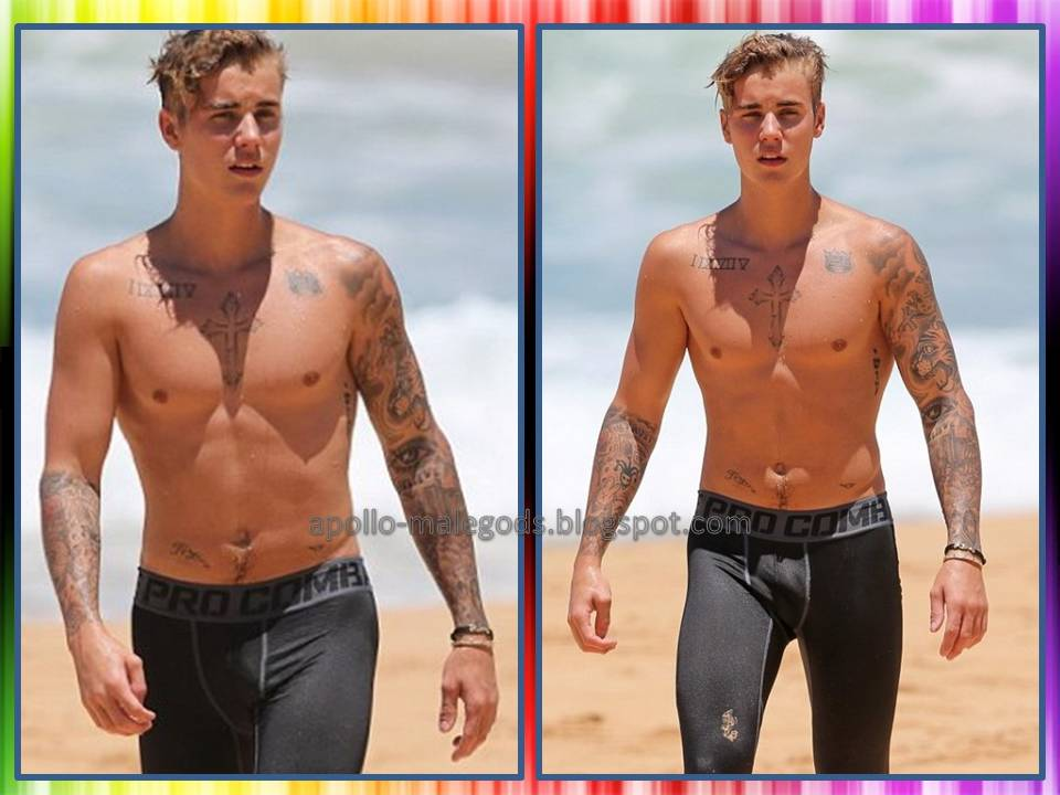 8c0943a6d6dc3 Justin Bieber in skin tight swim trunks | Apollo Male Gods