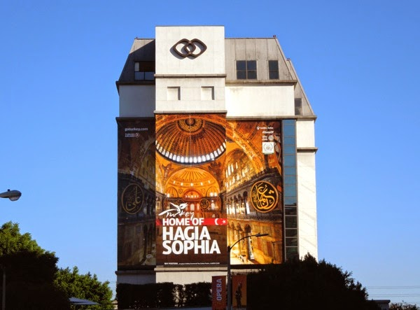 Giant Turkey Home of Hagia Sophia tourism billboard