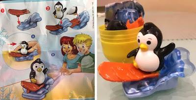Пингвин игрушка на сноуборде