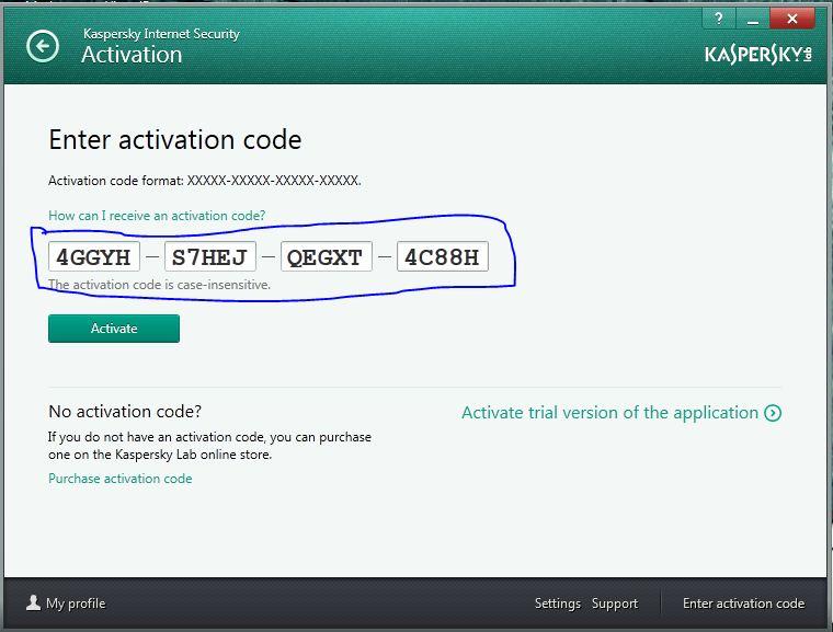 kaspersky antivirus trial key