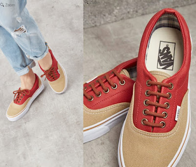 zapatillas de la marca Vans para mujer color beige