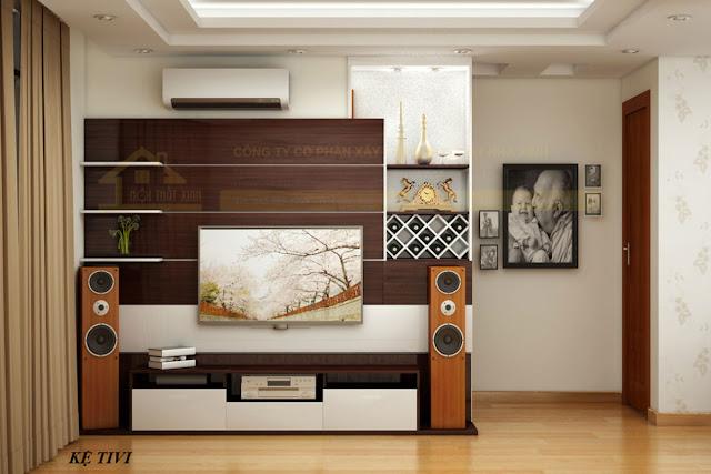 Kệ tivi phòng khách hiện đại và sang trọng