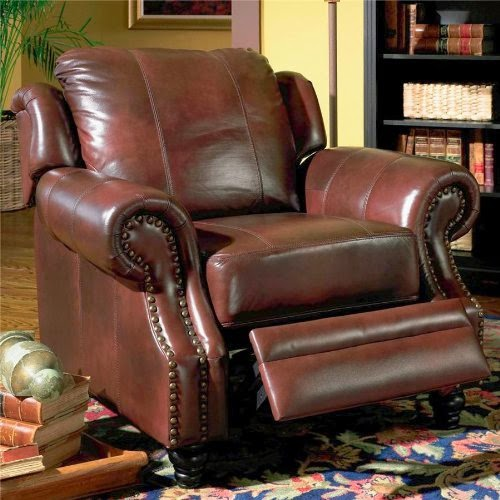 Princeton Tri-Tone Burgundy Leather Sofa Loveseat & Recliner Chair Set