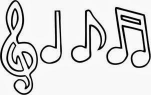 Resultado de imagem para desenho de notas musicais