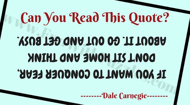Can You Read this Challenging Text Upside Down?