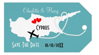 Destination wedding save the dates Cyprus