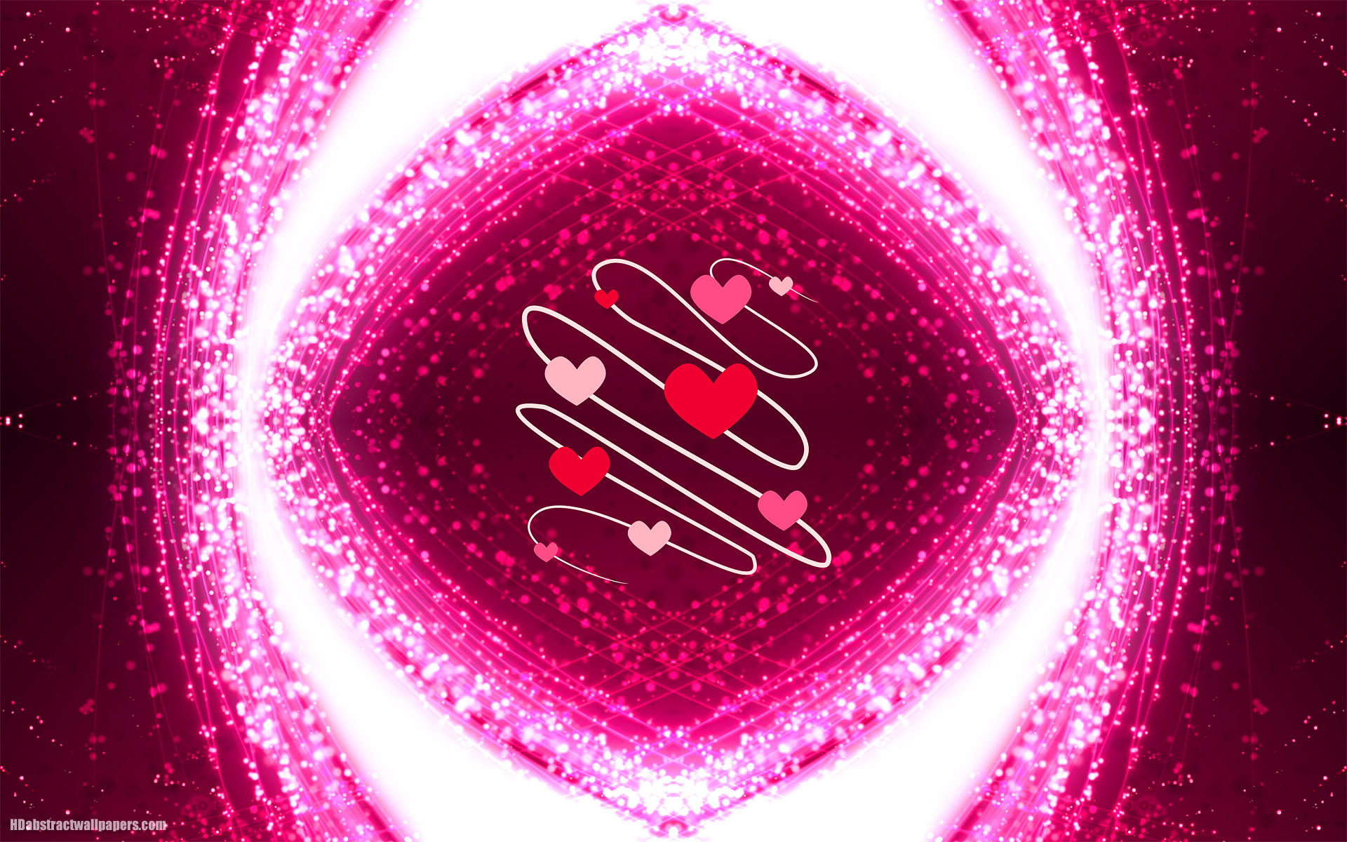 Pink abstract background with love hearts | HD Abstract ...