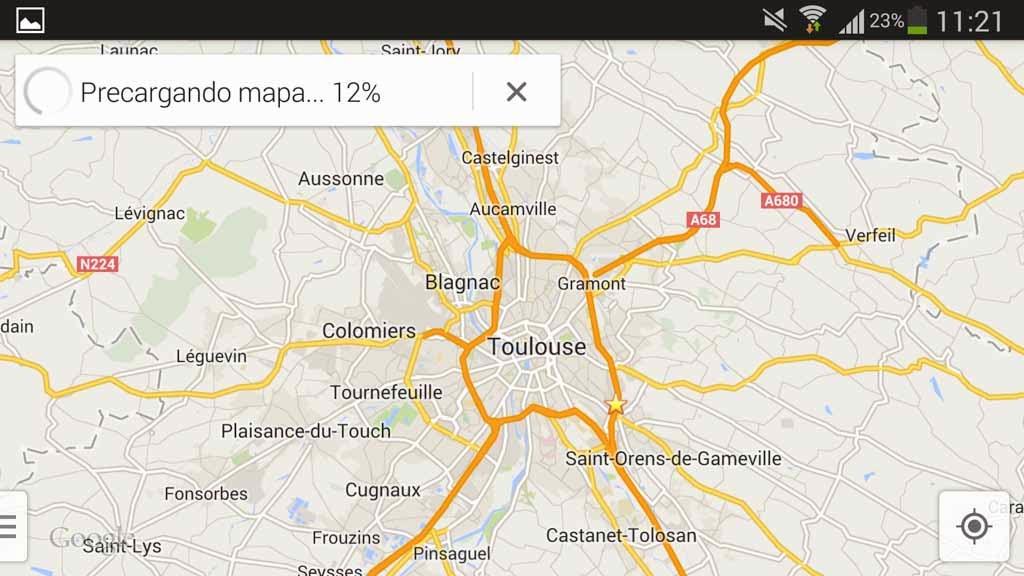 Mapas offline Google Maps Android