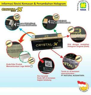 cara membedakan crystal x asli dan palsu