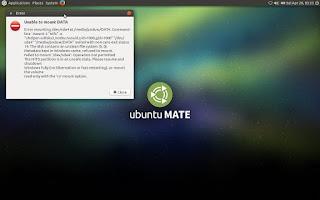 Tidak bisa akses partisi di ubuntu mate