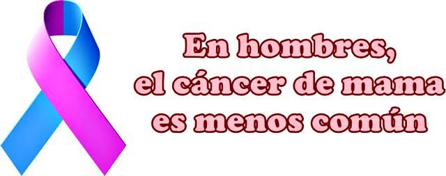 El cáncer de mama es menos común en los hombres