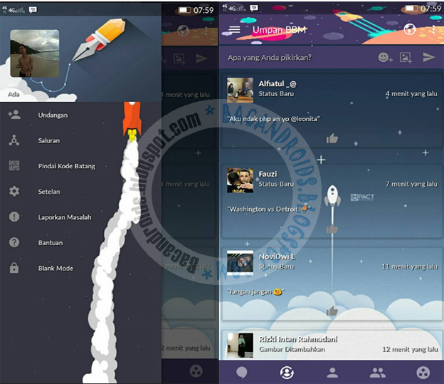 BBM Mod Rocket Style Theme v3.2.5.12 Apk Latest Android
