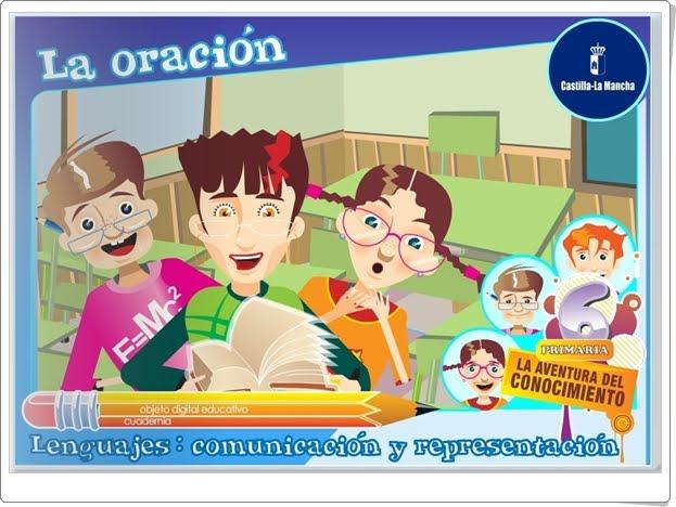 """""""La oración"""" (Aplicación interactiva de Lengua Española de Primaria)"""