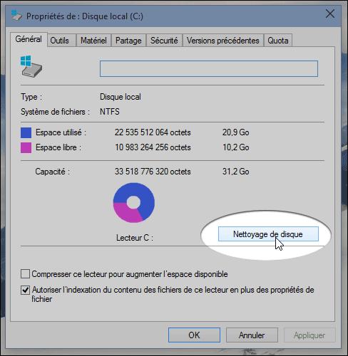 nettoyer installer Windows 10 à nouveau installer ssd