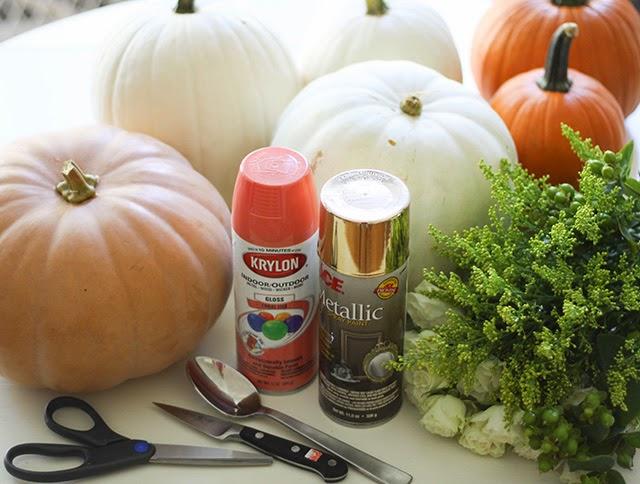 DIY fall floral pumpkin centerpieces make beautiful fall decor!